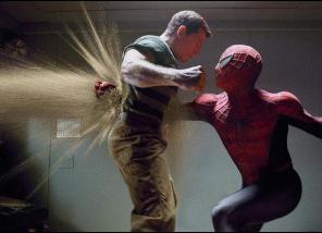 Spiderman fights Sandman